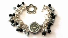 Gorgeous watch charm bracelet - The Supermums Craft Fair, just one available & only £6.50 +£1.00 postage  x