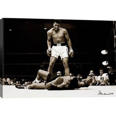 Commemorate a great sports victory on your home bar wall with this stylized canvas print, a must-have for the boxing enthusiast in your life.