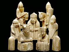 The British Museum: The Lewis Chessmen.M and wrote a book about the Lewis Chessmen! Oh yes, I adore playing chess! Medieval Games, Medieval Art, Historical Artifacts, Ancient Artifacts, Statue Art, Culture Art, Pop Culture, Lappland, Viking Art