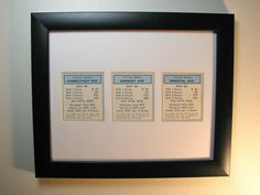 Framed Monopoly Pieces // Etsy
