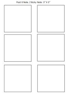 Post It Note / Sticky Note Printing Template - FREEBIE - Angela Crescenzo - TeachersPayTeachers.com