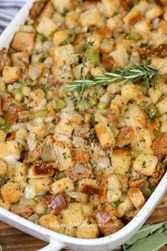 7 Of The Best Stuffing Recipes Stuffing Recipes For Thanksgiving, Holiday Recipes, Thanksgiving Dressing, Christmas Stuffing, Thanksgiving Vegetables, Thanksgiving Sides, Holiday Foods, Classic Stuffing Recipe, Snacks Sains