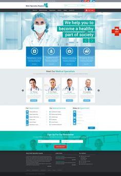 Its hospital website design Intranet Design, App Ui Design, Brochure Design, Website Design Layout, Web Layout, Medical Sites, Medical Humor, Corporate Website Templates, Hospital Website