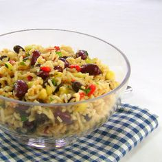 One Perfect Bite: Rice and Mixed Bean Salad