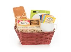 Allergy-Free Cookies & Tea Gift Basket | Whish.ca  Can be shipped anywhere in Canada! Tea Gifts, Allergy Free, Laundry Basket, Gift Baskets, Allergies, Canada, Cookies, Canning, Decor