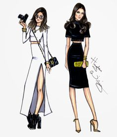 Hayden Williams Fashion Illustrations: Kylie & Kendall by Hayden Williams