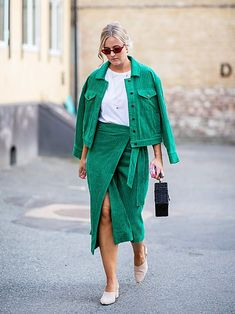 Oslo Fashion Week: the Scandi street style looks to be inspired by now oslo street style green co ord # Fall fashion event outfit # ilymixAccessories Green Fashion, Look Fashion, Autumn Fashion, Fashion Mode, Fashion Spring, Fashion Photo, Modest Fashion, Fashion Outfits, Fashion Trends