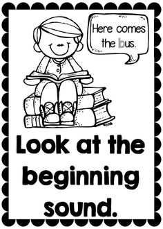 Reading strategy posters and centers for emergent readers. Great for Kindergarten students.