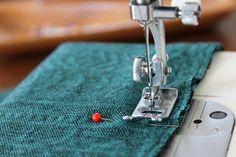 Sew the center back seam.