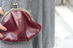 Sweet  bordo leather clutch bag by sweetcase on Etsy, $41.00