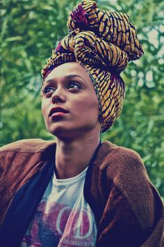 """Head wraps or """"gele"""", are not only culturally correct for African and… Bad Hair Day, My Hair, African Head Wraps, Looks Style, Poses, Black Is Beautiful, African Fashion, African Style, African Wear"""