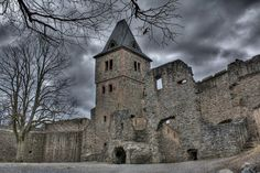 Castle Frankenstein, Darmstadt, Germany.  This was so cool to explore.  I loved riding my bike around it, and walking the trails around it too.  2005-2007