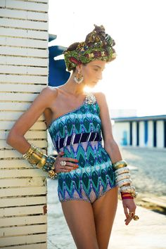 Stella Jean: Beach Collection #Africa #swimwear