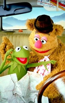 Kermit and Fozzie Bear - The Muppets on the road again. Jim Henson, Les Muppets, The Muppet Movie, Sesame Street Muppets, Fraggle Rock, Muppet Babies, Tv, Miss Piggy, Kermit The Frog