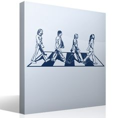 Vinilo decorativo Beatles Abbey Road #decoración #pared #vinilo #beatles #abbey #road #lennon #mccartney #ringo #starr #harrison #música #deco #TeleAdhesivo