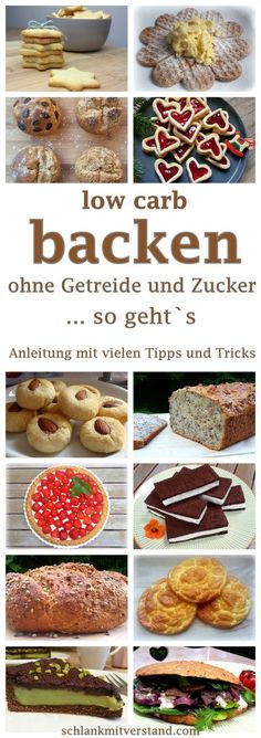 low carb backen – Anleitung mit vielen Tipps und Tricks low carb baking – guide with many tips and tricks Whoever decides for a low carb diet shouldn't have to give up on bread, breads, cakes and biscuits. Low Carb Sweets, Healthy Sweets, Low Carb Desserts, Healthy Baking, Low Carb Recipes, Diet Recipes, Pork Recipes, Menu Dieta Paleo, Law Carb