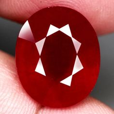 14.76CT.15.7x13mm. JUMBO! OVAL FACET Top Blood Red NATURAL Ruby MADAGASCAR NR! #GEMNATURAL