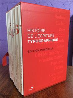 """Coffret """"Histoire de l'écriture typographique"""""""