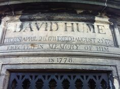 David Hume's grave at Old Calton Burial Ground