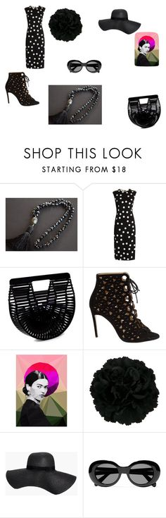 """""""black and white"""" by mariellascode ❤ liked on Polyvore featuring Dolce&Gabbana, Cult Gaia, Bionda Castana, Studio Cockatoo, Boohoo and Acne Studios"""