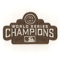 MLB Chicago Cubs 2016 Iron On Patches World Champions Series  Embroidered Badge #ChicagoCubs