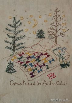 Scrap,quilt and stitch: Frosty, I'm cold !!!