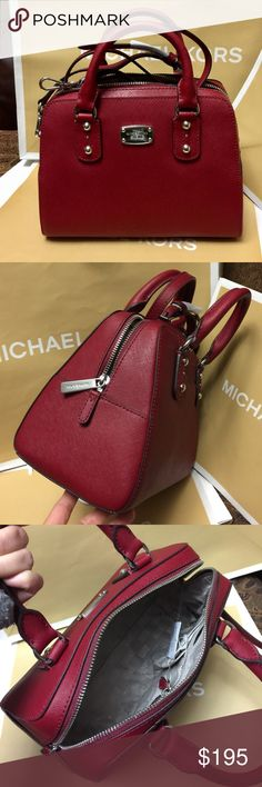Michael Kors Purse 100% Authentic Michael Kors Purse, brand new with tag!.color Cherry  Michael Kors Bags Crossbody Bags