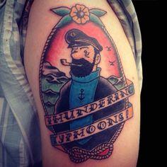 Traditional Arm Tattoo   by Karl Wojciechowski  at Bodkin Tattoo