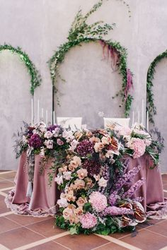 Beautiful outdoor wedding reception sweetheart table decorations with fresh lavender flowers and purple CV Linens tablecloths. Click to shop our lavender purple wedding tablecloths, artificial flowers, candle holders, and more! Spring wedding and summer wedding flower centerpieces and decorations for sweetheart tables. #springweddingcolors #springweddingideas #lavenderweddingtheme #purplewedding #sweethearttableweddding Lavender Wedding Theme, Dusty Rose Wedding, Spring Wedding Colors, Purple Wedding, Wedding Flowers, Summer Wedding, Outdoor Wedding Reception, Outdoor Wedding Decorations, Table Decorations