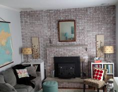 How to Whitewash Brick to give a wall character