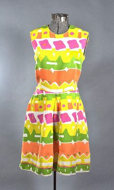 1960 Cotton Day Dress by Flesichmann of California