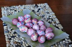 Brian found instructions on Neatorama for dying eggs using silk neckties.  I can't wait to try it!