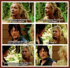 The Walking Dead - Daryl Dixon - Norman Reedus and Beth Greene - Emily Kinney