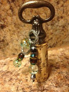 Handmade cork bottle toppers