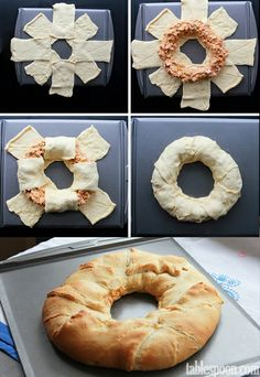Buffalo Chicken Crescent Ring - Food Recipes