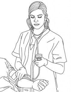nurse | 23 Nurse Coloring Pages Nurse-coloring-10