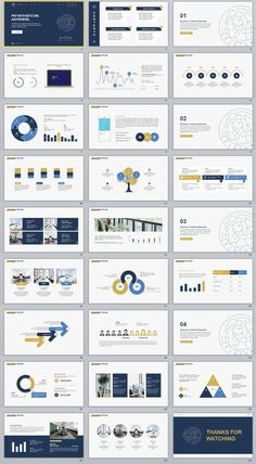 Business Infographic   Colorful Annual Report Charts Powerpoint
