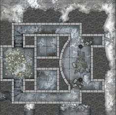 Heroic Maps - Geomorphs: The Frost Tombs - Heroic Maps | Buildings | Caverns & Tunnels | Dungeons | Geomorphs | DriveThruRPG.com