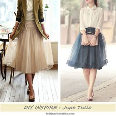 jupe-tulle-facile-a-faire-diy-couture-sewing. Baby Couture, Couture Sewing, Couture Fashion, Diy Fashion, Fashion Outfits, Diy Dress, Party Dress, Skirt Patterns Sewing, Ballroom Dress