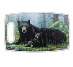 """Hautman Brothers Bears Plastic Antibacterial Cutting Board by River's Edge. $14.95. Great functional Bear decor! """"Bears"""" by Hautman Brothers Cutting Board.. Plastic Cutting Board. 15"""" x 9"""". PPE Antibacterial. Wonderful Mother's Day or Father's Day gift.... Great functional Bear decor! """"Bears"""" by Hautman Brothers Cutting Board.       PPE Antibacterial     15"""" x 9""""     Plastic Cutting Board"""