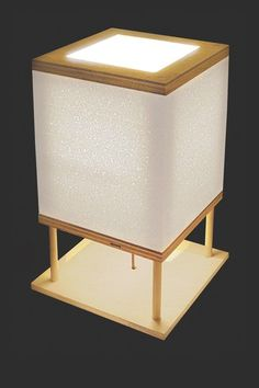 "Styrofoam Square Desk Lamp -14"" x 9"" x 9"" by Shiner Lighting"