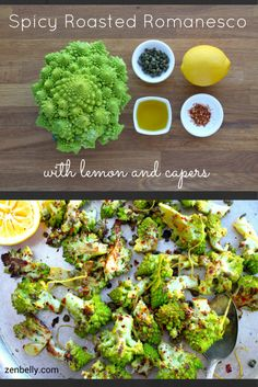 Spicy Roasted Romanesco with Lemon and Capers - zenbelly