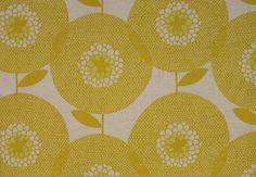 Stoff grafische Muster - Interiorstoff - Flower Field - Goldenrod - ein Designerstück von stoffsalon bei DaWanda