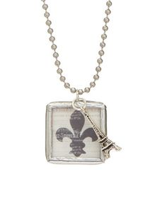 Look at this #zulilyfind! Fleur-de-Lis Pendant Necklace #zulilyfinds