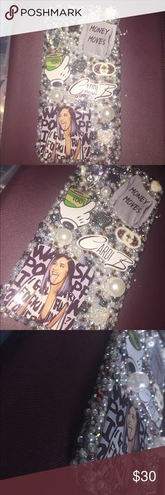 3D Bling Cardi iPhone 8 Plus Hard Cabochon Case 3D Bling Cardi B Themed iPhone 8 Plus Cabochon Kawaii Gard Case! Super Super Sparkly and Shines So Bright!! Accessories Phone Cases