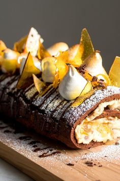 For the holidays, one showstopping dessert rises above the rest: the Yule log, or bûche de Noël. Yotam Ottolenghi shares his for the season (along with a slightly simpler cake too). Roasting Tins, Chocolate Shavings, Chocolate Cake, Creme Egg, Yule Log, Thing 1, Baking Pans, Pastry Chef, Desserts