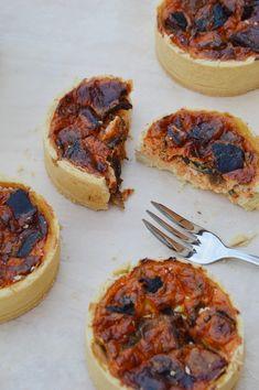 Quiche poivron - aubergine - chèvre / Plus une miette dans l'assiette
