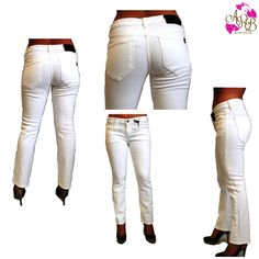 """The """"It Jeans Harvest Crop Pants"""" must be in everyone's wardrobe!  http://androbel.com/bottoms/it-jeans-harvest-crop-pants.html #fashion #white #pants #clothes #wardrobe"""