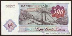 Zaire, 500 zaires,1984