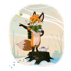 from Fox & Brownsugar, a very charming fox by Jerome Queval